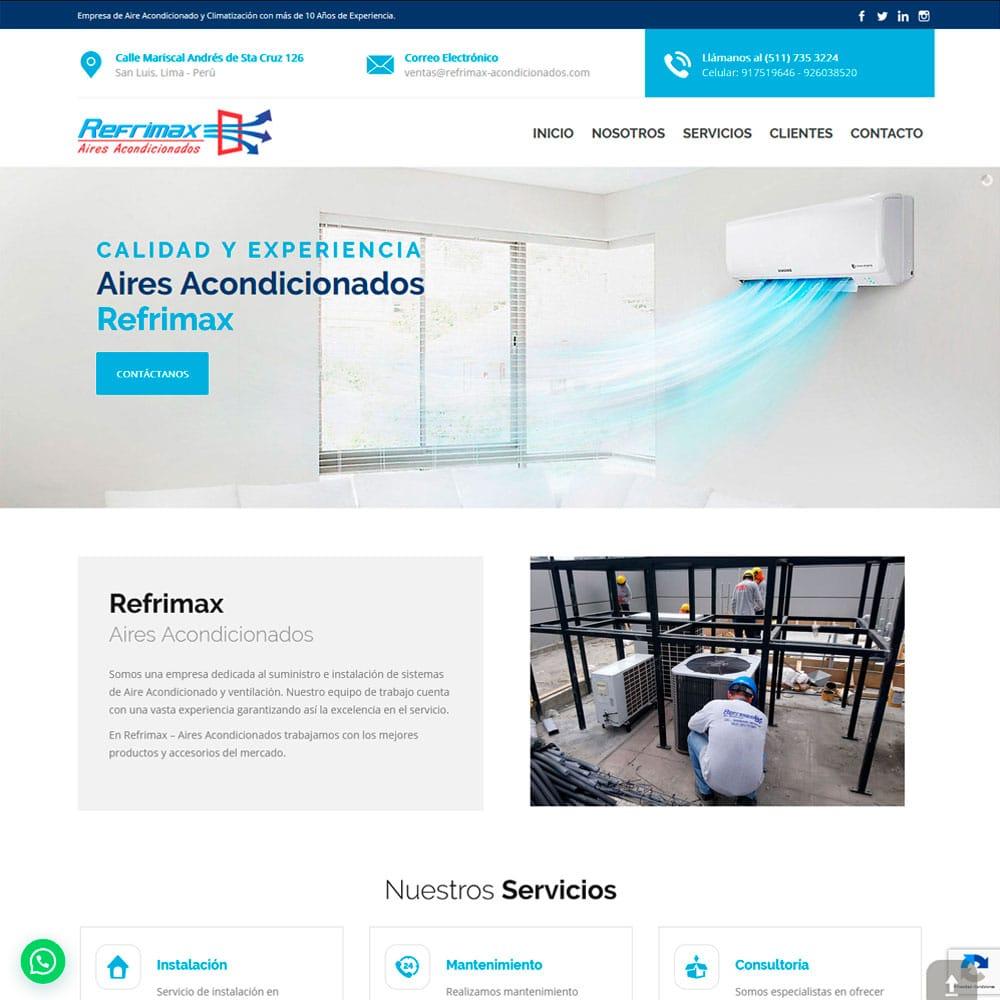cliente web refrimax